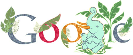 Google Doodle for National Thai Elephant Day