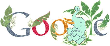 Google Doodle for National Thai Elephant Day